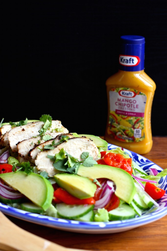 Grilled Chicken Salad with Mango Chipotle Dressing