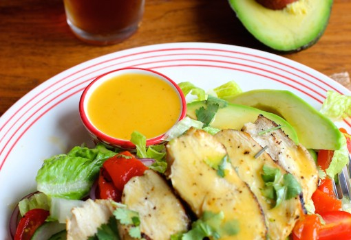 "<span class=""p-name"">Grilled Chicken Salad with Mango Chipotle Dressing</span>"