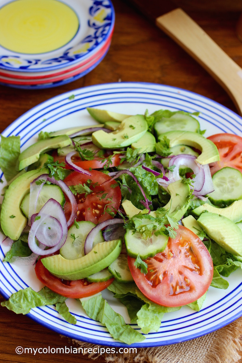 Simple Side Salad | My Colombian Recipes