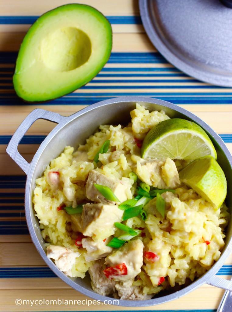 Arroz Atollado de Pescado (Colombian-Style Creamy Fish Rice) |mycolombianrecipes.com