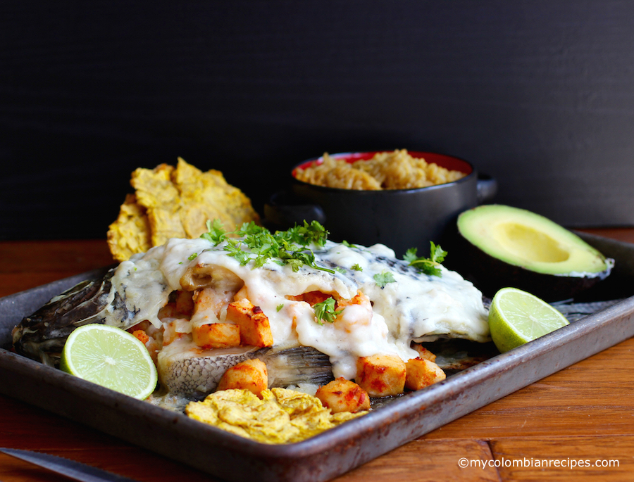 Pescado Relleno de Mariscos (Whole Fish Filled with Seafood)