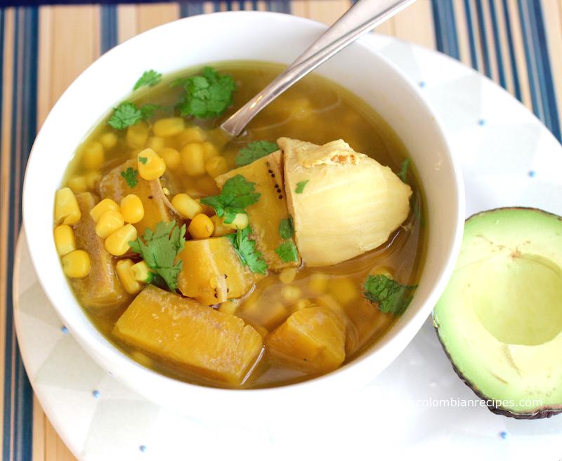Sopa De Pollo Y Pl 225 Tano Verde Chicken And Green Plantain Soup My Colombian Recipes