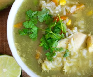 Cilantro-Lime Rice and Chicken Soup |mycolombianrecipes.com