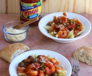 Pasta with Cuban-Creole Shrimp |mycolombianrecipes.com