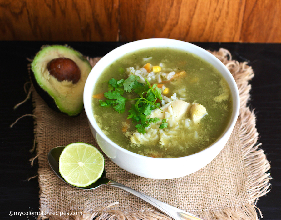 Cilantro-Lime Rice and Chicken Soup