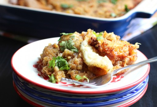 Two Cheese Ripe Plantain Casserole