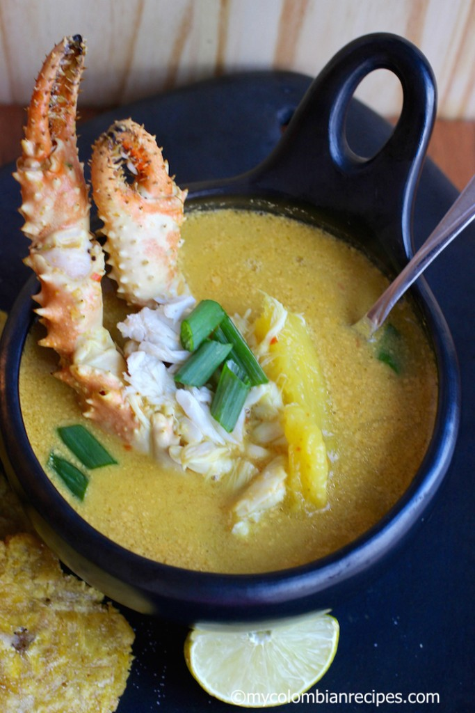 Sopa de Cangrejo (Crab and Coconut Soup) |mycolombianrecipes.com