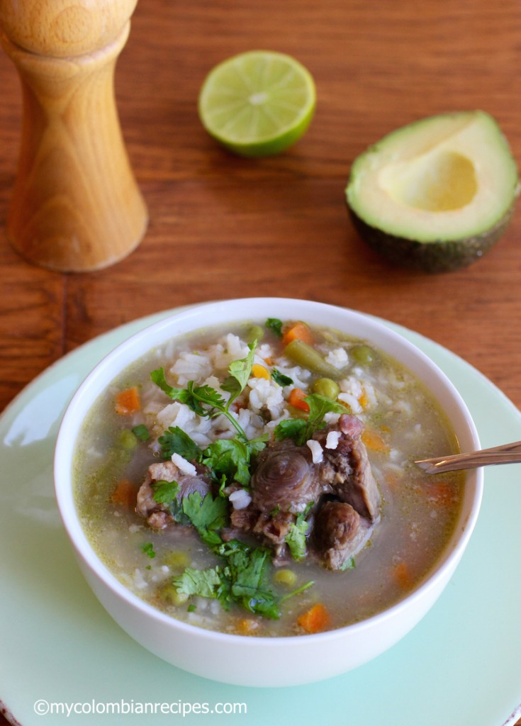 Oxtail, Rice and Vegetable Soup