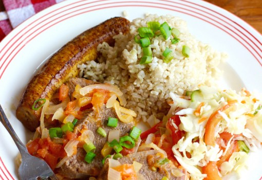 "<span class=""p-name"">Lengua en Salsa Criolla (Colombian-Style Tongue with Creole Sauce)</span>"