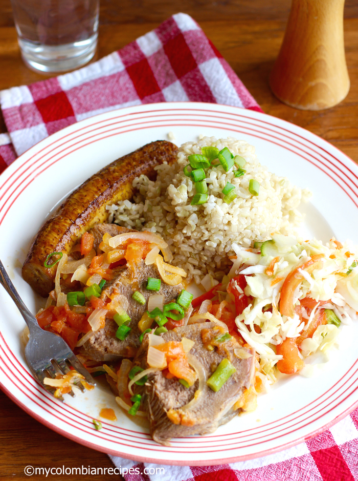 Lengua en Salsa Criolla (Colombian-Style Tongue with Creole Sauce) |mycolombianrecipes.com