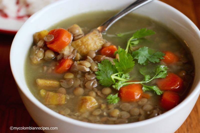 Sopa de Lentejas con Plátano Verde (Green Plantain and Lentil Soup)