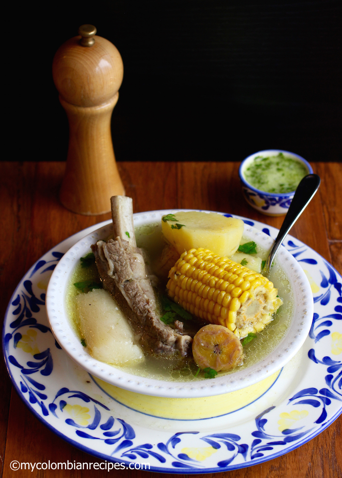 Sancocho de Costilla (Beef Ribs Sancocho)|mycolombianrecipes.com