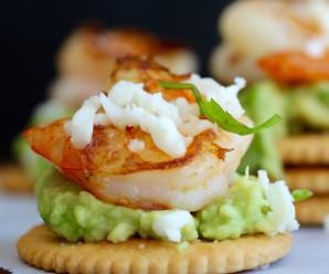 Avocado and Garlic Shrimp Bites