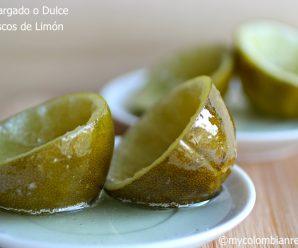 Dulce de Cascos de Limón o Desmargado Colombiano