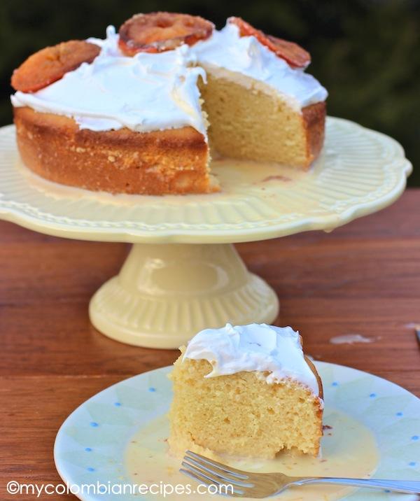 Torta De Tres Leches De Mandarina