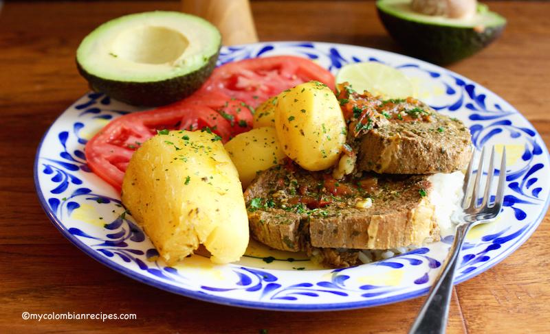 Sudado de Posta o Muchacho (Beef Round Steak Stew)