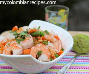 Receta de Arroz con Camarones Colombiano