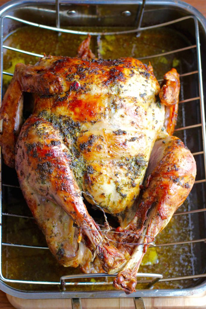 Chimichurri Butter Roasted Turkey