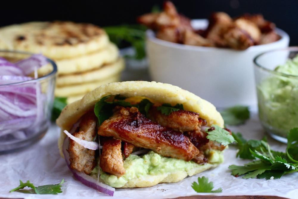 Pork and Avocado Stuffed Arepas