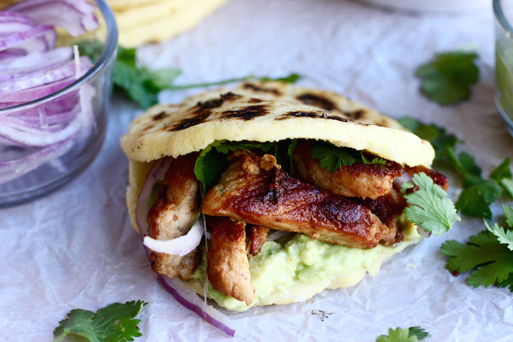 Pork and Avocado Stuffed Arepas