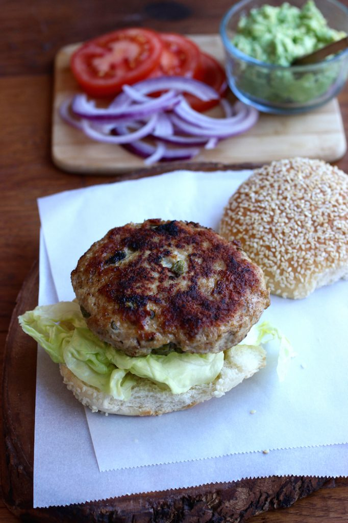 turkey-poblano burgers