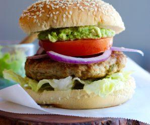 Turkey-Poblano Pepper Burgers