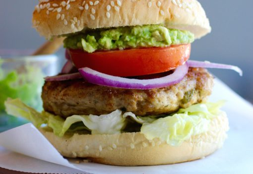 Turkey-Poblano Pepper Burgers