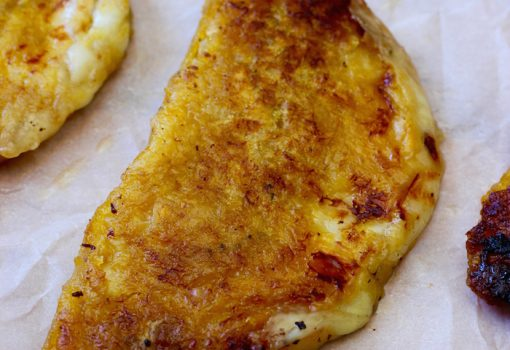 "<span class=""p-name"">Empanadas de Plátano Maduro (Ripe Plantain Empanadas with Cheese)</span>"
