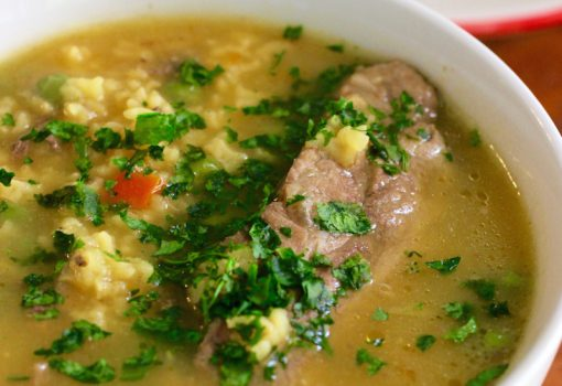 "<span class=""p-name"">Sopa de Arroz con Costilla (Pork Ribs and Rice Soup)</span>"