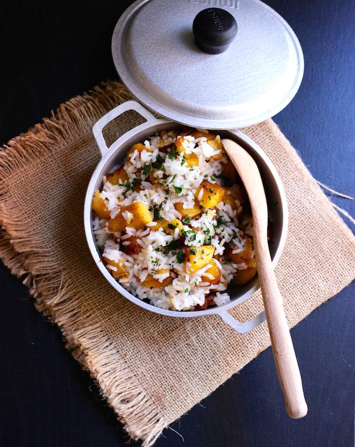 Arroz de Pajarito (Rice with Ripe Plantain)