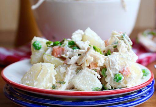 Potato, Chicken And Apple Salad