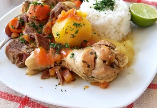 Sudado de Tres Carnes (Colombian Three Meats Stew)