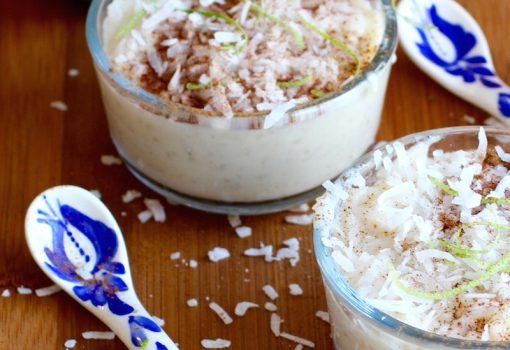 Lime Rice Pudding