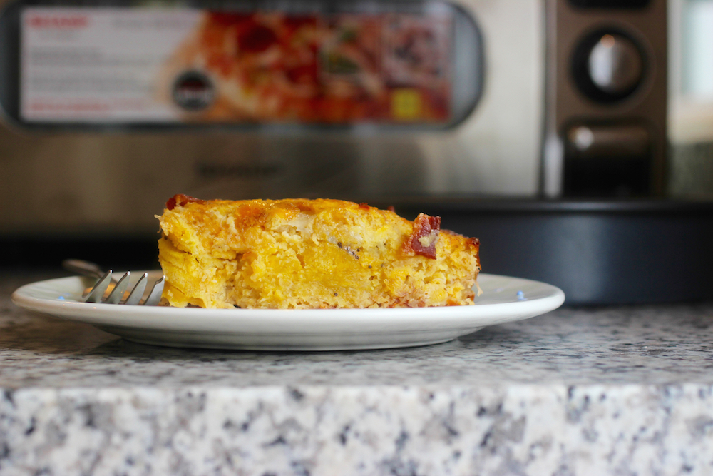Ripe Plantain and Bacon Cake