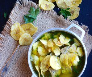 Sopa de Moneditas de Plátano