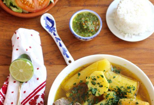 Sancocho de Pollo y Costilla de Res (Chicken and Beef Ribs Soup)